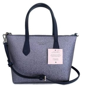 Kate Spade Glitter Small Satchel Tote ~ Dusk Navy